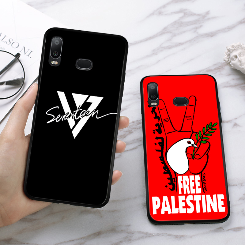 Lavaza Palestine Broadsword Unique Design Silicone Case for Samsung A3 A5 A6 Plus A7 A8 A9 A10 A30 A40 A50 A70 J6 A10S A30S A50S in Half wrapped Cases from Cellphones Telecommunications