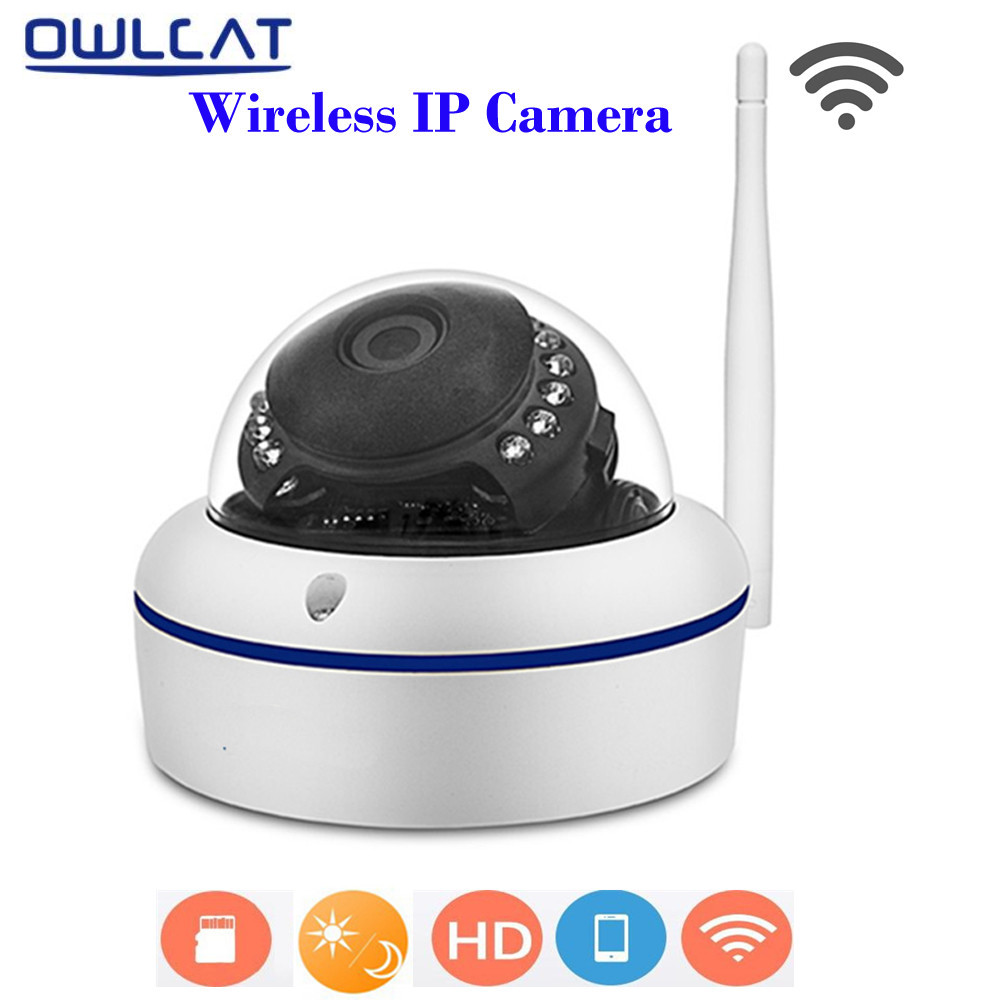 OwlCat IP Camera WiFi Wireless Home Security Surveillance Camera HD 720P IR Cut Night Vision CCTV Camera Support TF Card Max 64G 1 4 cmos 720p 1mp security cctv camera two way audio ir cut video surveillance night vision wifi ip camera support 64g tf card