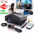 UC46 WiFi Wireless Portable LCD LED Home Theater Projector Proyector Cinema1200 Lumens Support Miracast DLNA Airplay Full HD 3D
