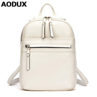 AODUX Backpacks Fashion Top Quality Brand Real Leather Backpack Women Female Genuine Leather Backpack Cowhide Bags