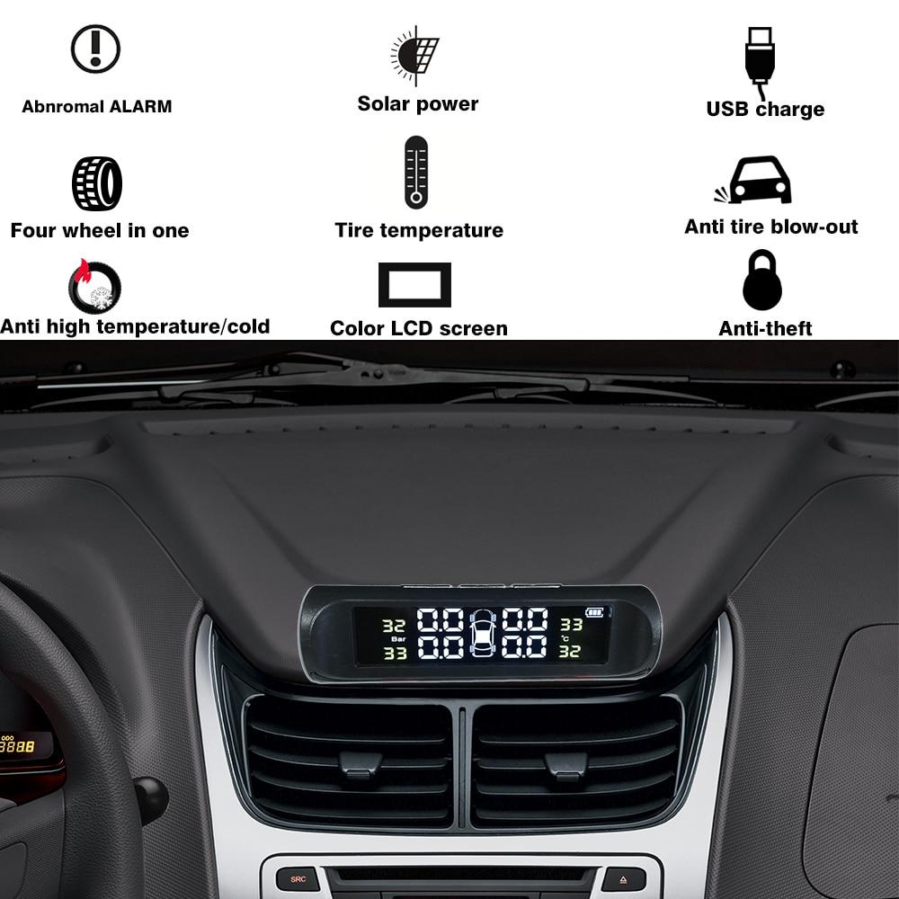 SINOVCLE TPMS Tire Pressure Sensor Alarm Monitor System Internal / External  Tire Temperature Sensor Wireless Pressure Sensor
