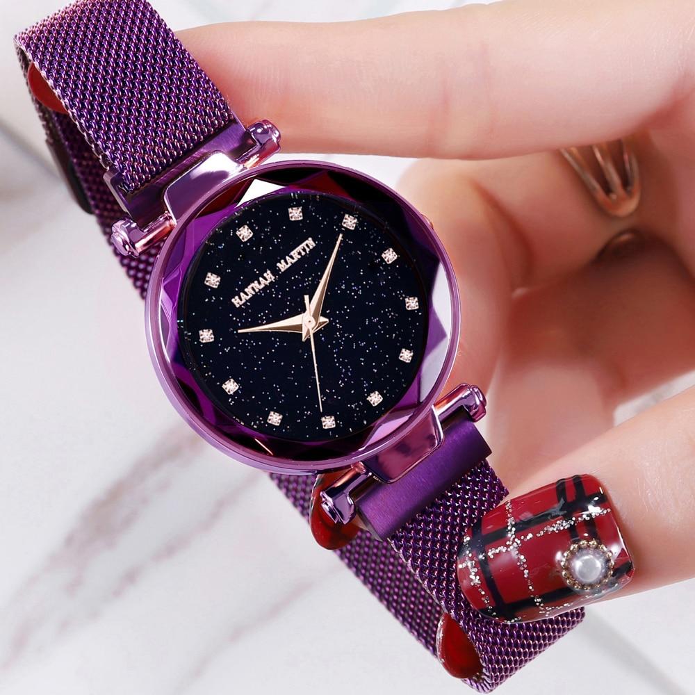 Japan MIYOTA Bewegung Frauen Uhren Starry Sky Strass Edelstahl Magnet Mesh Armbanduhren Wasserdicht Relogio Feminino