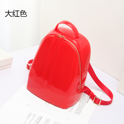 2016 New Women Candy Color Summer Mini Jelly Backpacks waterproof PVC Silicone Shoulder Bags for beach