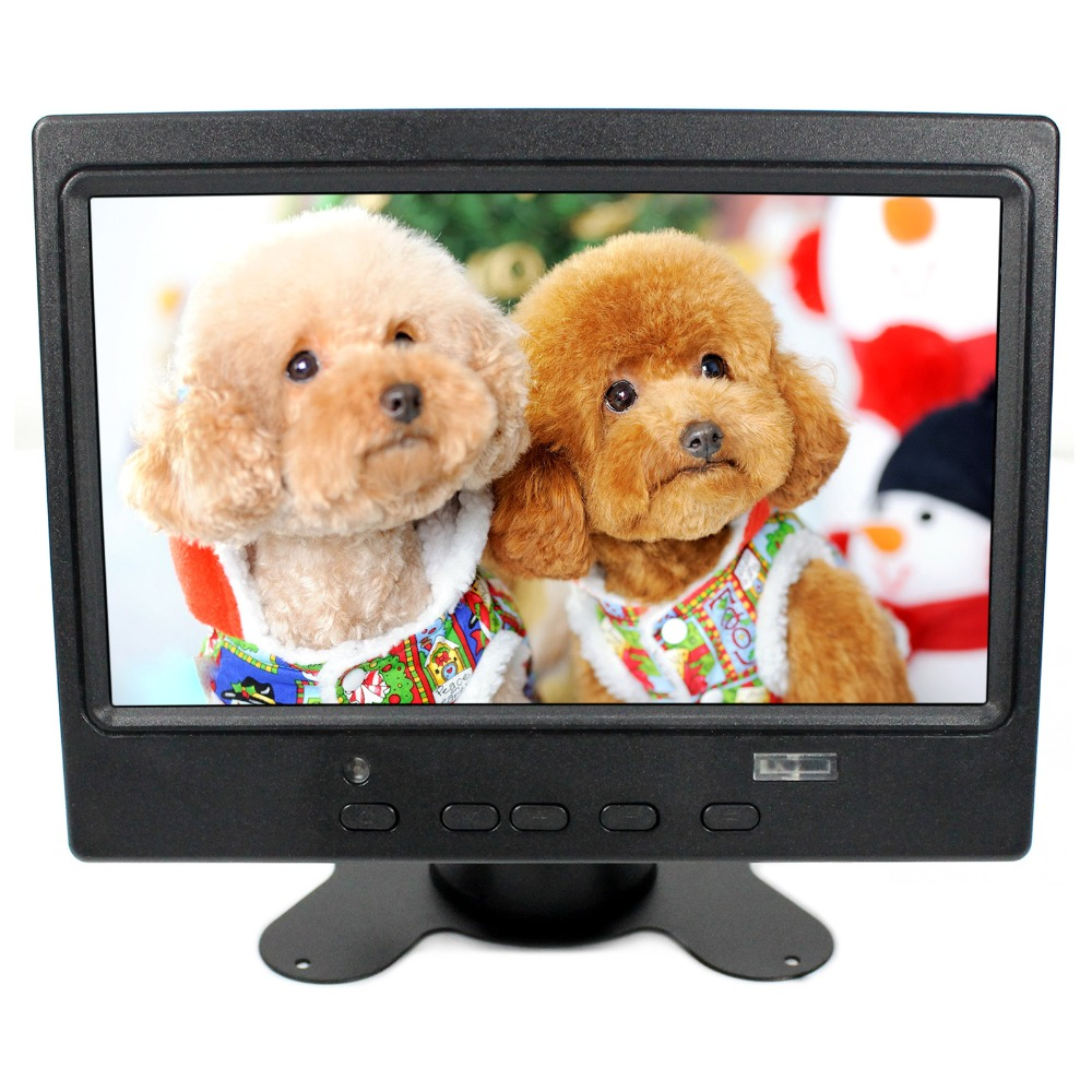 7inch 800x480 LCD Monitor With HDMI+VGA+AV Input Signal For Bus and Desk Monitor