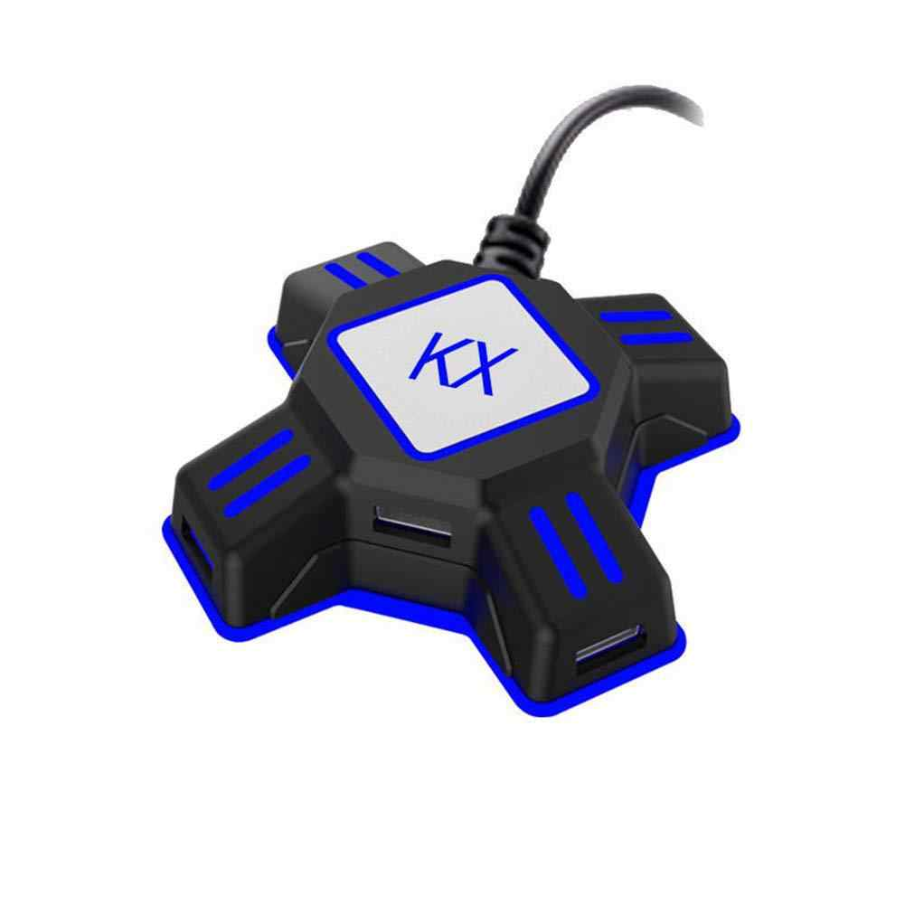 BEESCLOVER キーボードマウスアダプタスイッチ/Xbox/PS4/PS3 4 ポート KX USB ゲームコントローラ変換 r60