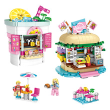 New Heartlake Friends Pizza Restaurant Fit Friends Figures City Building Block Bricks Diy Toys Girls Kid Gift стоимость