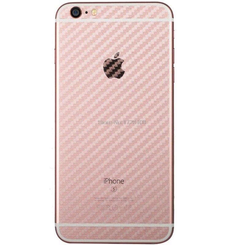 2 шт./лот Вернуться углеродного волокна Стикеры для iPhone 6 S Plus Ultra Clear ультра тонкий Slim Fit Защитный Флим кожи задняя крышка
