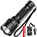 Tactical LED Flashlight CREE XM-L T6 Torch Waterproof lantern 5 mode Lamp led Bicycle +18650 Rechargeable battery car Charger