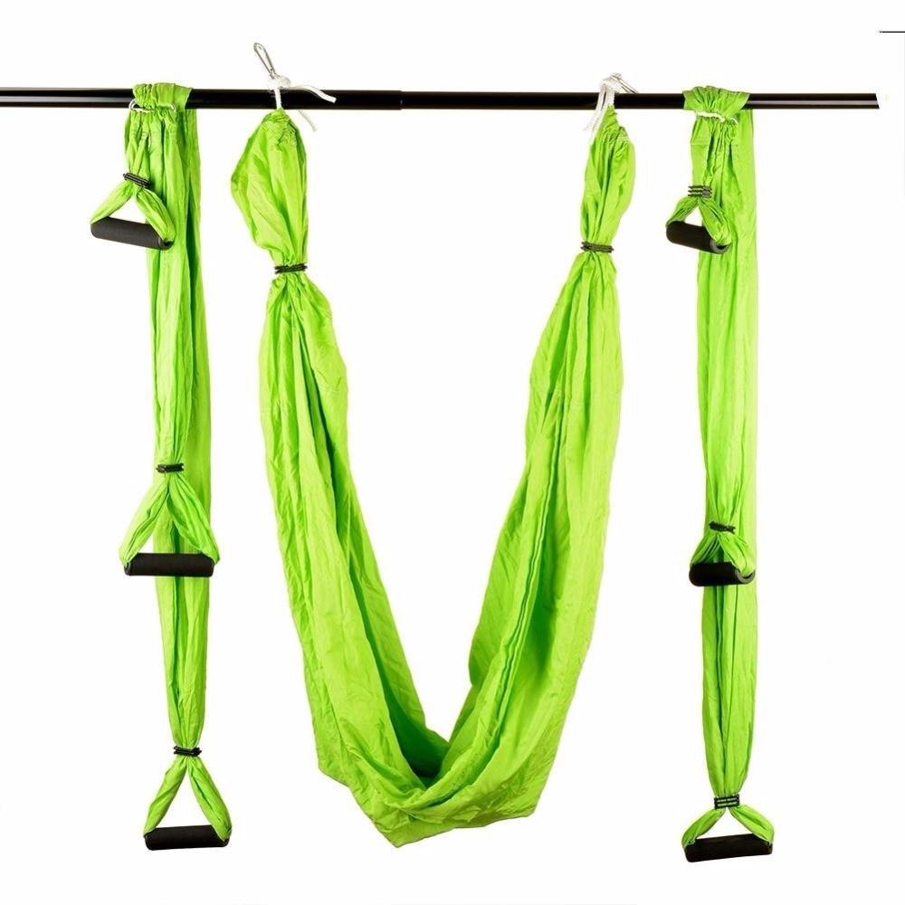 6 couleurs force décompression yoga hamac Inversion trapèze Anti-gravité Traction aérienne yoga Gym sangle yoga balançoire ensemble - 2