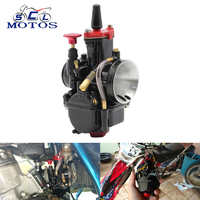 Sclmotos 21 24 26 28 30 32 34mm Mikuni Motorcycle Carburetor Keihin PWK Carb With Power Jet Fit 4T Engine Scooter ATV Racing