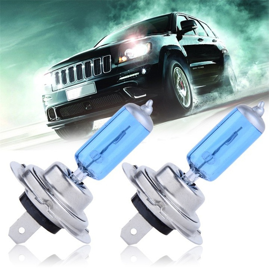 2pcs H7 55W 12V Super Bright White Fog Lights  Bulb High Power Car Headlights Lamp Car Light Source Parking 5000K New