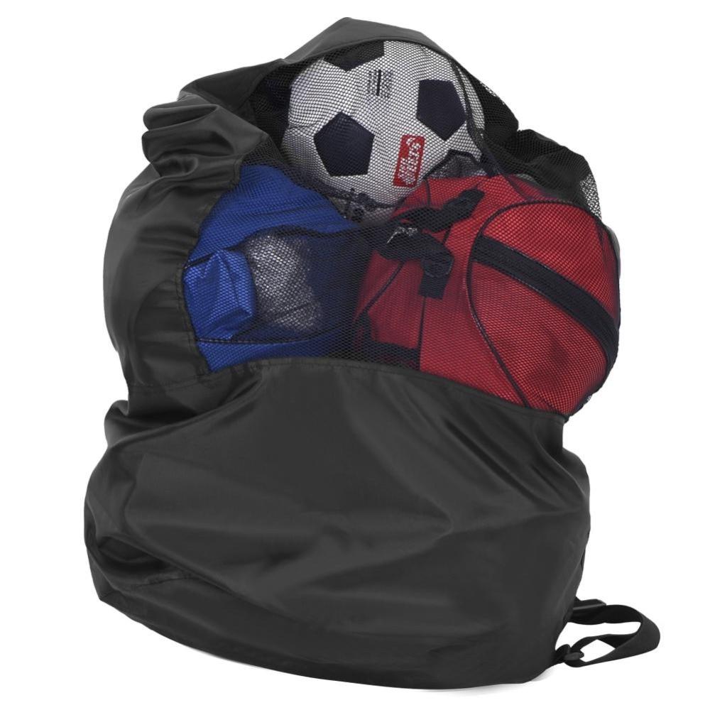 a555647e350 Outdoor Sports Basketball Shoulder Bags High Capacity Mesh Drawstring  Football Training Bags Soccer Ball Storage Holder Bag