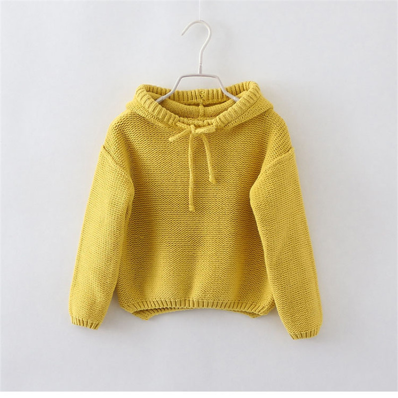 Baby Girl Cardigans Fashion Candy Color Toddler Infant Pullover Jumper Autumn Children Knitted Sweaters Winter Warm Knitwear Kid