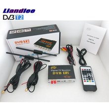 Liandlee For Colombia, Russia, UK / HD DVB-T2 Car Digital TV Receiver Host Mobile TV Turner Box Two Antenna / DVB-T2-M-718 цена