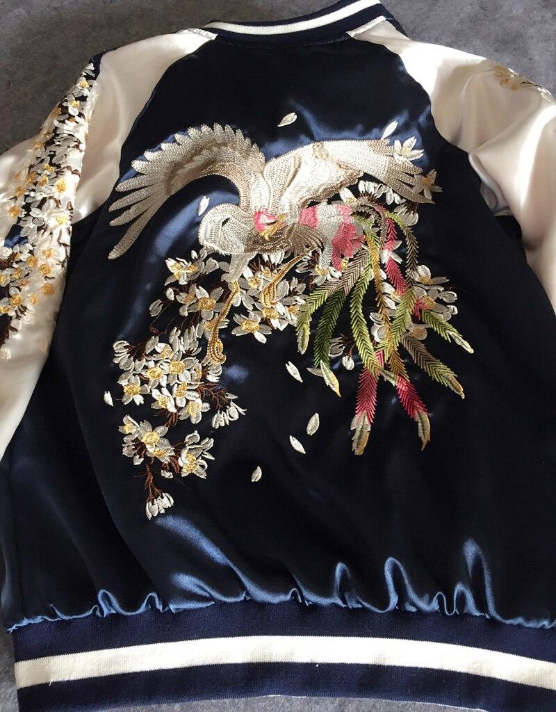 Vol Thick Bomber Broderie cotton Dames Fleur Automne Plus Veste Taille Coat Padded Printemps Phoenix La 2018 General Femmes Bleu Lâche xTqEwOTH