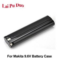 Para makita caixa de plástico da bateria 9.6v 1.5ah 2ah (sem bateria) 9000 9001 9002 191681 2 632007 4