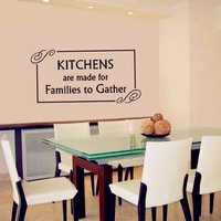 Kitchen Wall Decal Family Quotes Vinyl Wall Sticker Home Decor Kitchen Wall Art Mural Decoration Kitchen