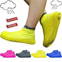 Обувь для дождливого дня; ботинки унисекс с нескользящей подошвой; Многоразовые латексные Бахилы для мужчин и женщин; водонепроницаемые резиновые сапоги; галоши