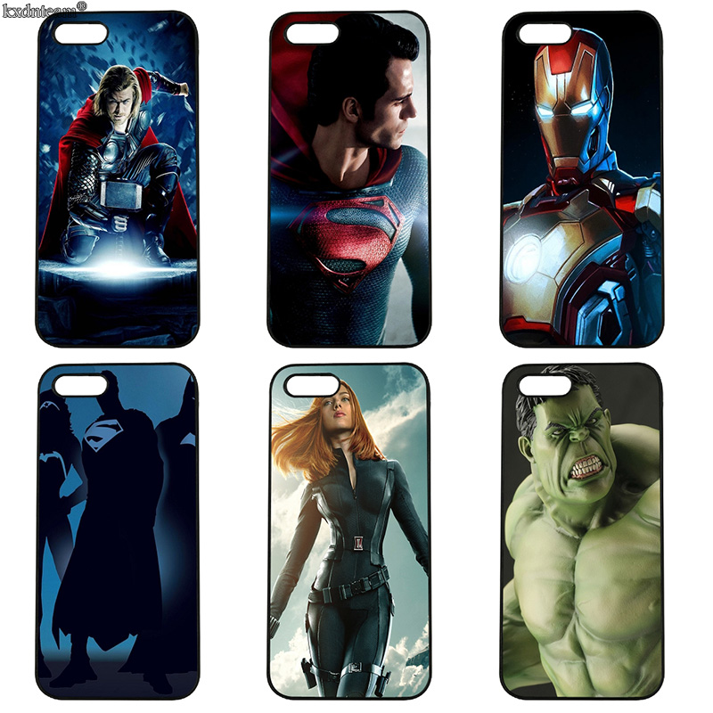 The Avengers Hulk Iron Man Phone Case Hard PC Anti-knock Cover for iphone 8 7 6 6S Plus X 5S 5C 5 SE 4 4S iPod Touch 4 5 6 Shell