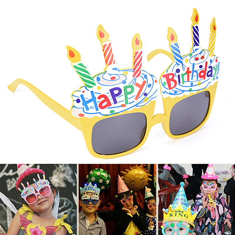 Funny Happy Birthday Glasses Decorative Ice Cream Novelty Costume Sunglasses For Gift Party Supplies Decoration
