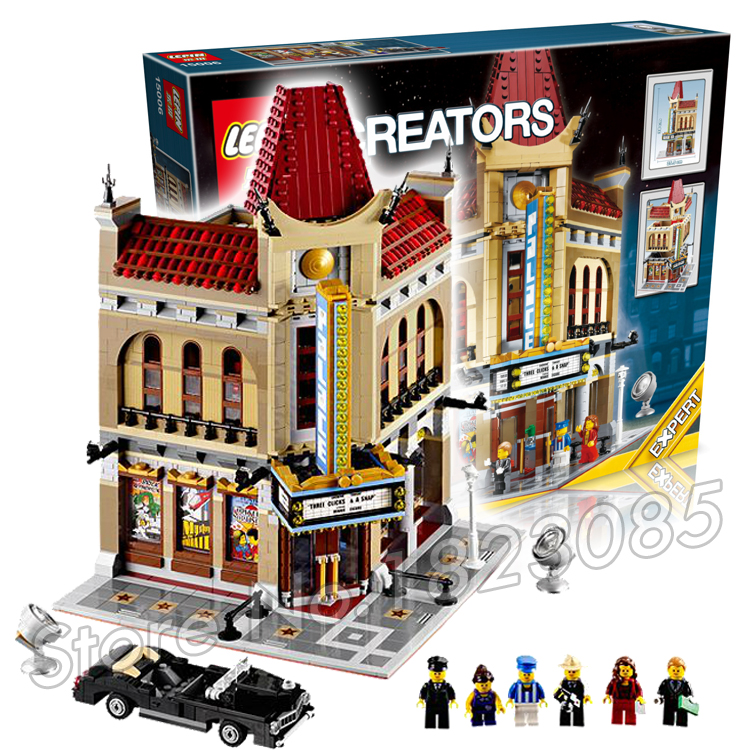 2404pcs 15006 Creator Palace Cinema 3d Model Building Blocks Minifigures Bricks Vehicles Town Audience Toys Compatible With Lego