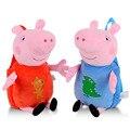 Genuine Peppa Pig Plush Toys Girls Boys Kids Kawaii Bag Backpack School Bag 44cm Peppa George Cartoon Bag Stuffed Plush Dolls