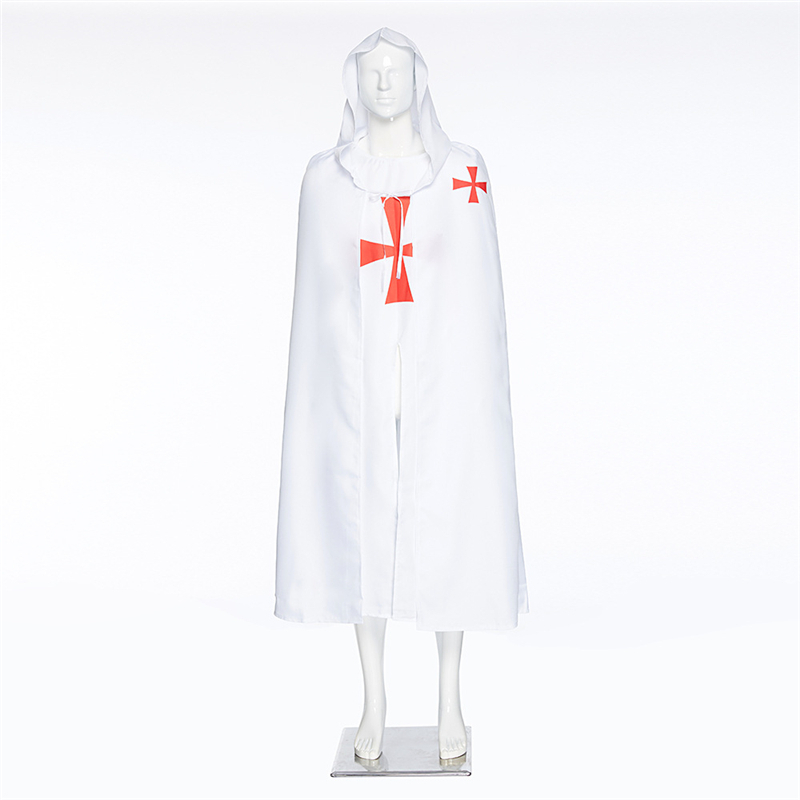 Halloween Cosplay Templars COS Costume Roman Empire Movie Costumes Big Cloak Hooded Robes For Men And Women