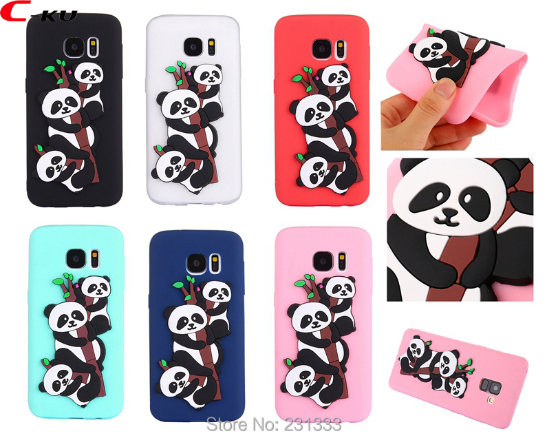 C-ku Panda Cat 3D Cartoon Soft Silicone Case For Samsung Galaxy S7 EDGE S8 PLUS NOTE8 J3 ...