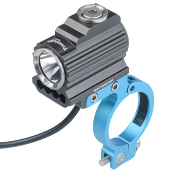 USB & DC port Trustfire TR-D017 XM-L2 LED 3 Light Modes Waterproof Bicycle Front Light with Battery Pack & Mount