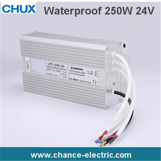 1PC/LOTS LED Water-Proof Type driver switching mode Power Supply SMPS 250w 24v 10A (LPV-250W-24V) 90w led driver dc40v 2 7a high power led driver for flood light street light ip65 constant current drive power supply