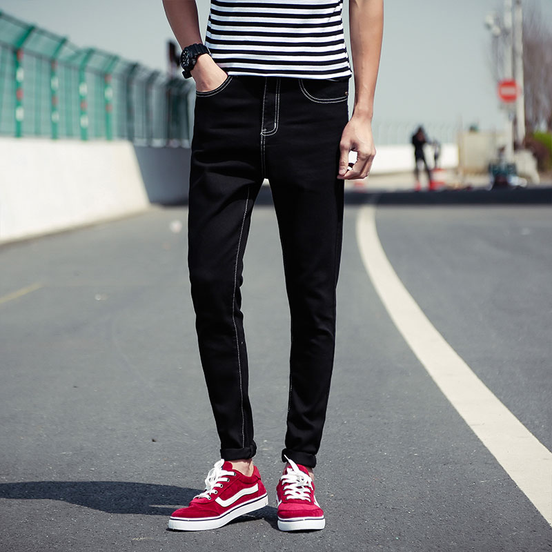 2016 new men's jeans stretch slim men's feet color cowboy long pants f a l картина nivek 78х98 см