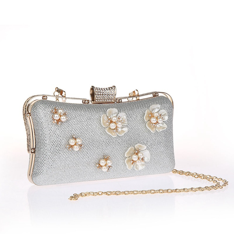 Mini Evening Bag Women Clutch Bags Crystal Day Clutches With Chain Wedding Purse Party Banquet Black Gold Sliver SMYCWL-B0002