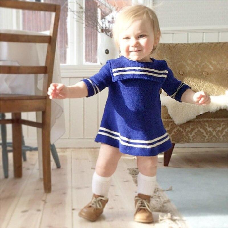 kids sweater long dress baby girl knitted cotton sweater dress long sleeve girls sweaters 2018 spring autumn children tops цена