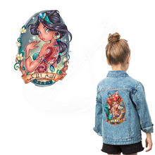 Europe Pop Cartoon girl Iron on Patches For Clothing DIY child T-shirt jacket hoodie Grade-A Thermal transfer stickers(China)