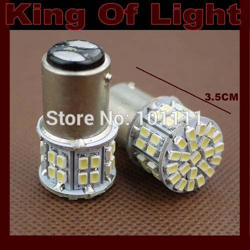 2x High quality led Car styling lighting S25 bay15d P21/5W 50smd 1157 50 LEDS SMD 3020 1206 brake parking lignt Free shipping