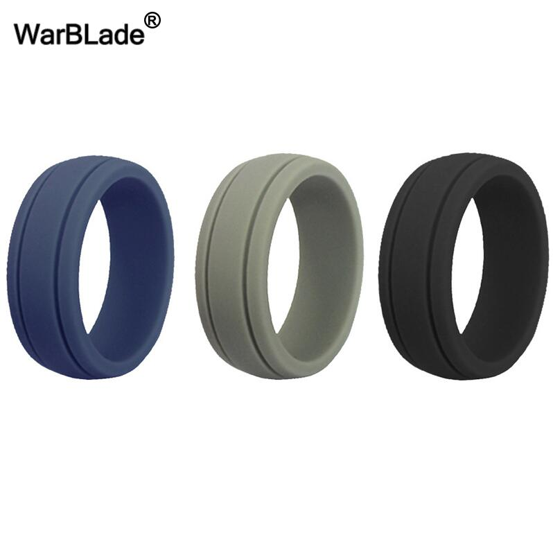 WBL 3pc/set Men Women Silicone Ring Food Grade FDA Silicone Finger Ring Hypoallergenic Flexible Sports Antibacterial Rubber Ring 3