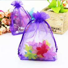 Custom Jewelry Bags Fabric 100 PCS 5x7cm Organza Jewelry Candy Gift Pouch Bags Wedding Xmas Favors For Necklace Earrings Ring