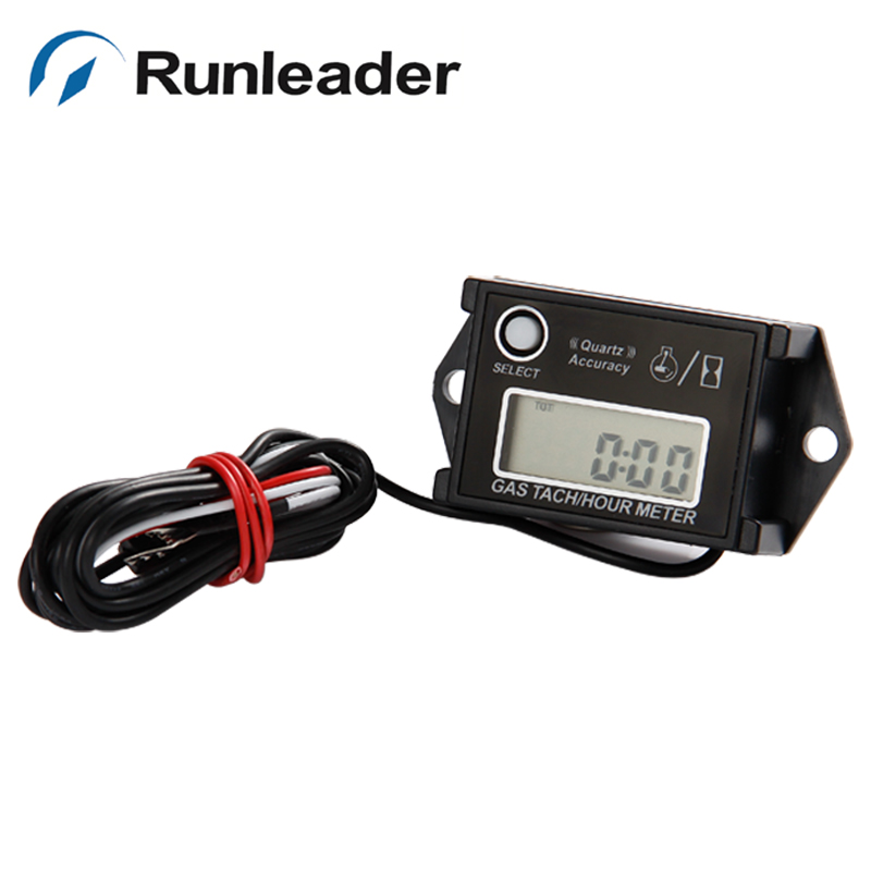 Runleader Tach Hour Meter Tachometer For Gas Engine 2/4 Stroke generaor Motorcycle ATV UTV marine chain saws snowmobile jet Boat