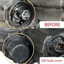 1 pc Headlamp dust caps LED Extended headlight back cover for kia nouvelle ceed stonic soul nouveau sportage sorento potima