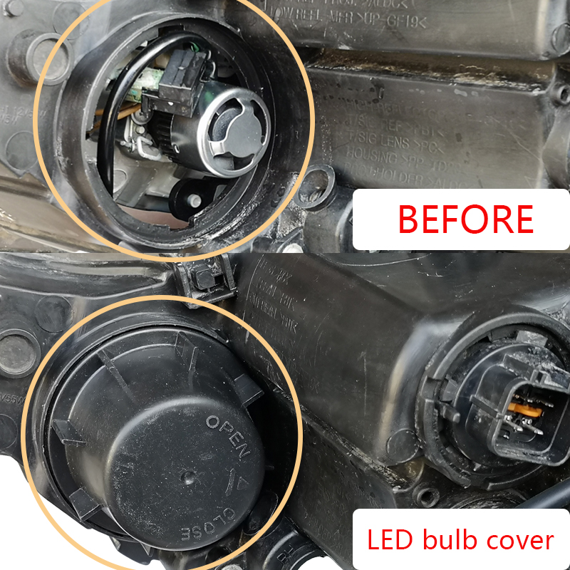 Couvre-phares H1 H7 9005 LED pour nouveau ceed pour stonic pour soul pour nouveau sportage pour sorento nouvelle potima