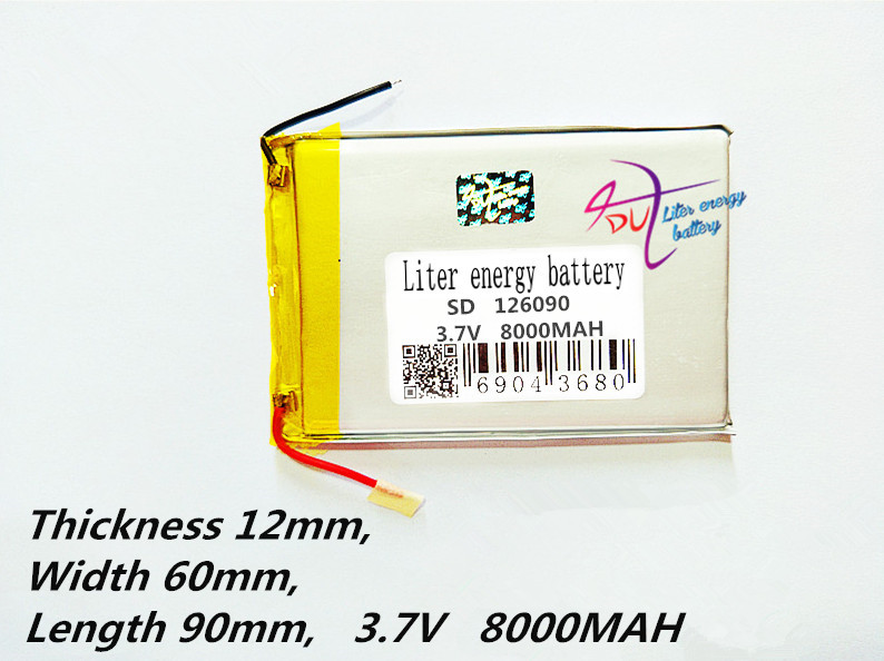 Gps Attraktive Mode 126090 3,7 V 8000 Mah Plib 37wh Polymer Lithium-ionen Batterie/li-ion Batterie Für Power Bank; Tablet Pc E Buch