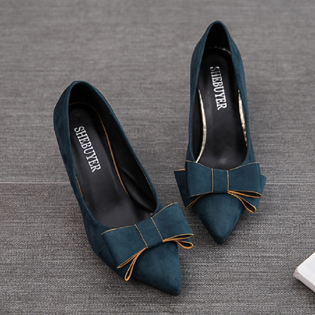 Women Cute High Quality Pointed Toe  High Heel Pumps Shoe