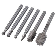 HSS Routing Router Drill Bits Set Carbide Rotary Burrs Tools Wood Stone Metal Root Carving Milling Cutter Mini 10pcs 1 8 carbide cnc router bits single flute tools hss router bits wood cutter milling fits dremel rotary hand tool set