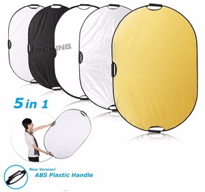 Image 2 - 60x90cm 24x35 5 in 1 Multi Disc Photography Studio Photo Oval Collapsible Light Reflector handhold portable photo disc