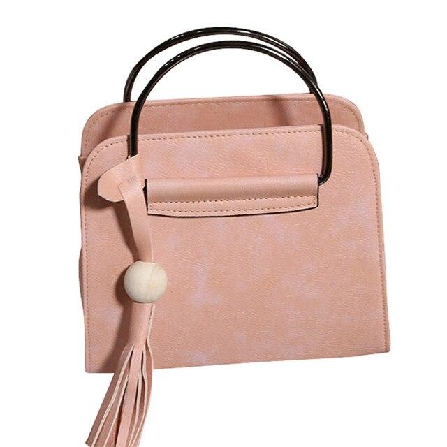 a2ad373d5a 2017 Most Popular Women Fashion Handbag Tassel Shoulder Bag Large Tote  Ladies Female PU Leather Handbag