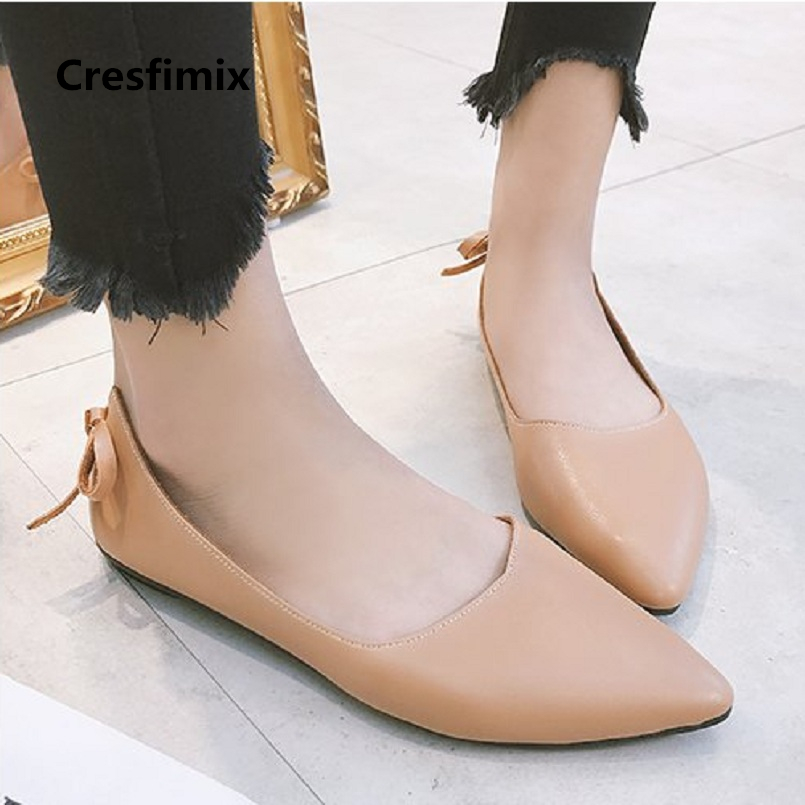 Cresfimix femmes appartements women retro brown flat loafers lady cute comfortable summer slip on flat shoes cool shoes a2003 cresfimix femmes appartements women fashion comfortable mesh breathable flat shoes lady cute beige bow tie shoes zapatos b2859