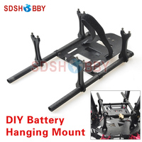 Large Space CNC Aluminum Alloy DIY Battery Hanging Mount Holder Gimbal Hanging Hook For Multicopter Universal