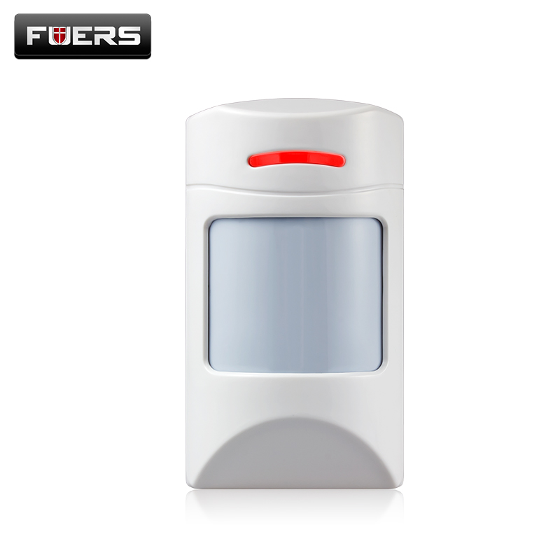Fuers Wireless Intelligent anti-Pet-immunity PIR Motion Sensor Detector For Home Security Burglar pet-friendly Alarm System fuers wifi gsm sms home alarm system security alarm new wireless pet friendly pir motion detector waterproof strobe siren