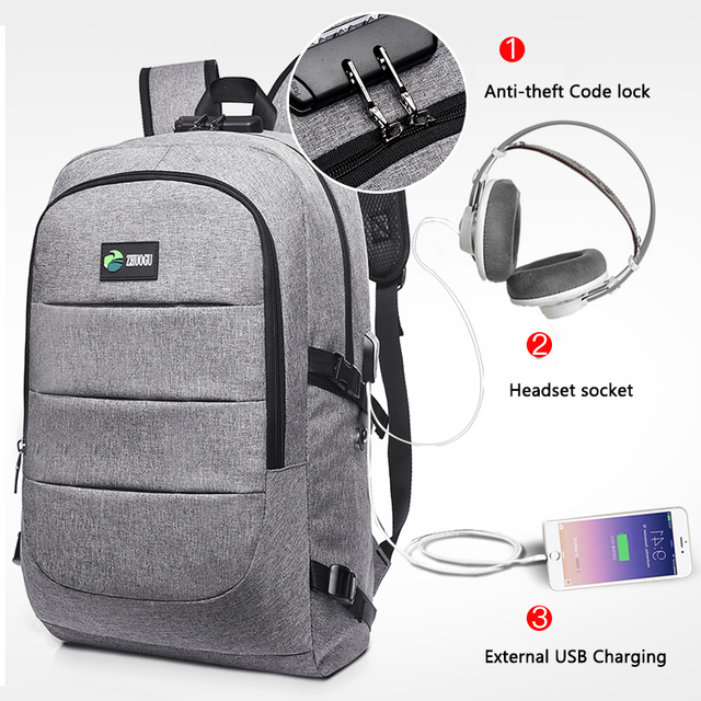 Multifunction USB charging bag for man