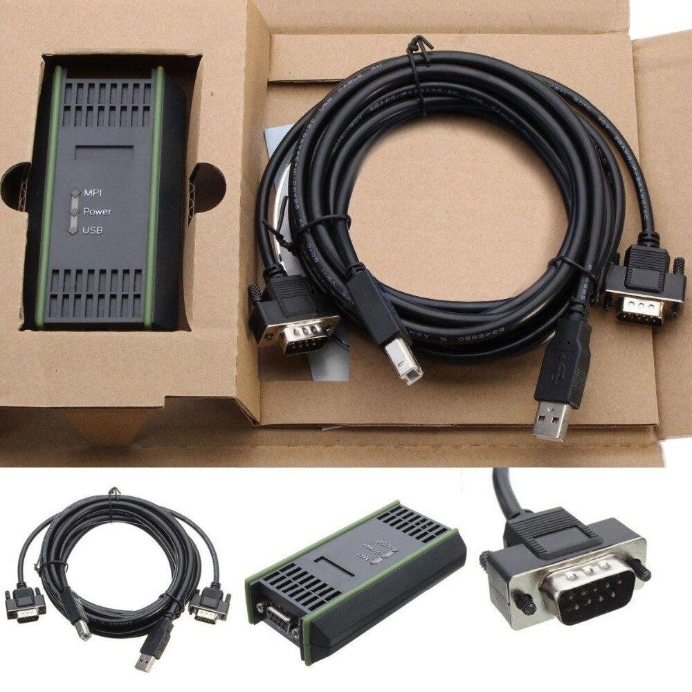 Câble USB adaptateur pour Siemens S7-200/300/400 PLC RS485 Profibus MPI PPI 9pin Communication remplacer Siemens 6ES7972-0CB20-0XA0